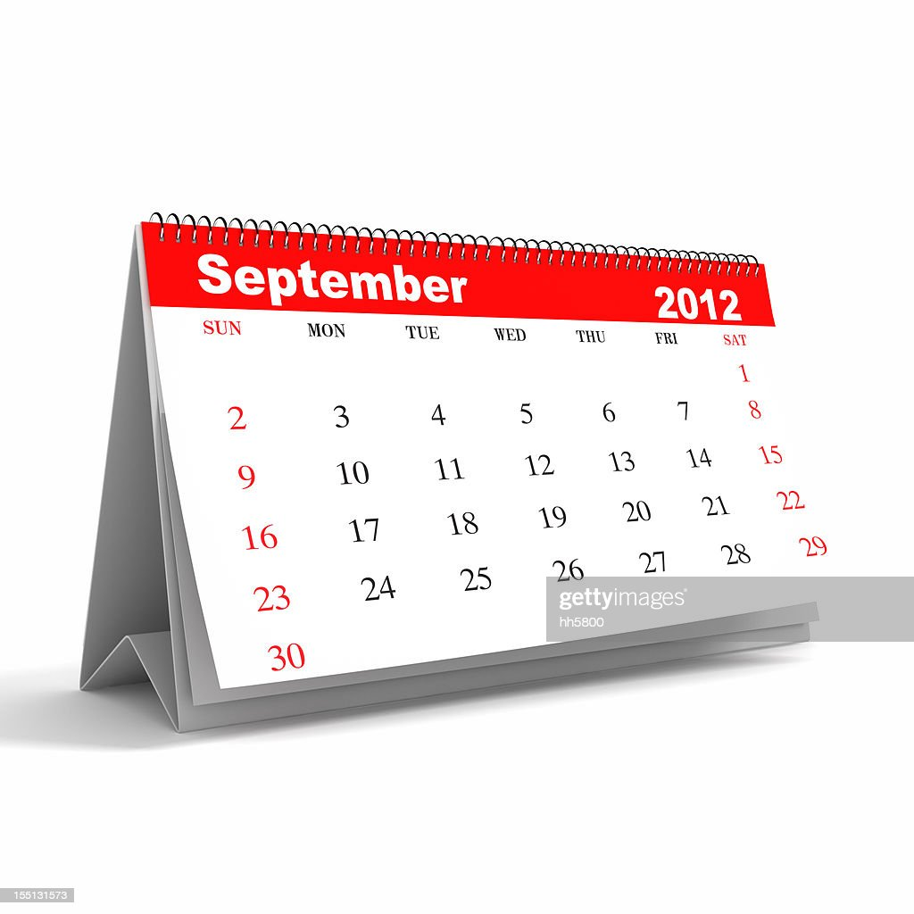 September 2012 - Calendar series : Stock Photo