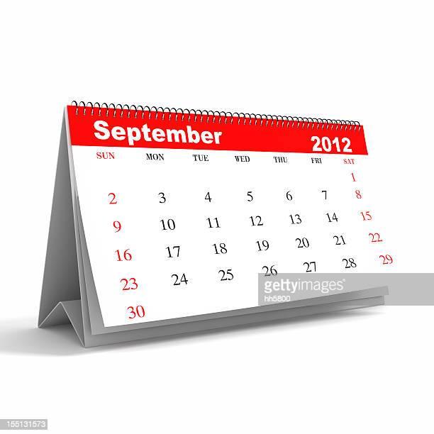 Serie calendario de septiembre de 2012: