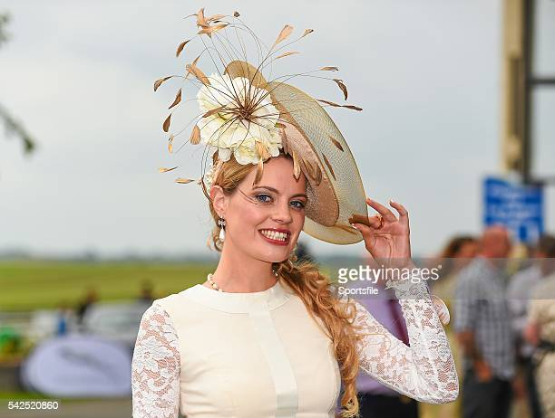 14 September 2014 Ann Marie Corbett from Mitchelstown Co Cork before the start of the action on day two of the Irish Champions Weekend Curragh...