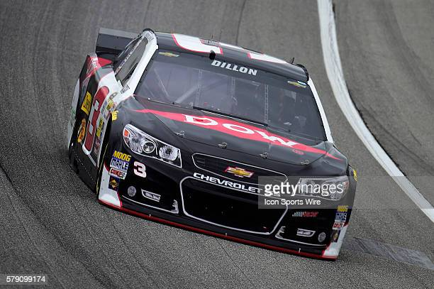 Austin Dillon driving the car during a practice session for the AFibStorycom 400 at ChicagoLand Speedway Joliet Il