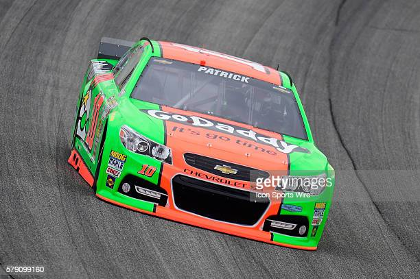 Danica Patrick driving the race car during a practice session for the AFibStorycom 400 at ChicagoLand Speedway Joliet Il