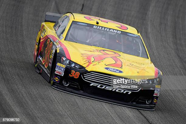 David Gilliland driving the Ford Fusion during a practice session for the AFibStorycom 400 at ChicagoLand Speedway Joliet Il