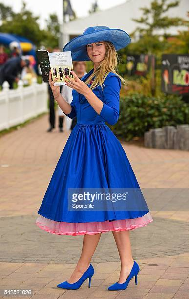 14 September 2014 Emma Jane Hughes from Drogheda Co Louth before the start of the action on day two of the Irish Champions Weekend Curragh Racecourse...
