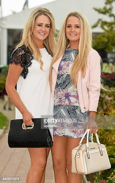 14 September 2014 Georgina Stapleton from Wicklow left and Jessica Molloy from Waterford before the start of the action on day two of the Irish...