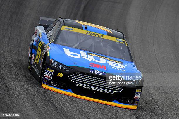 Greg Biffle driving during a practice session for the AFibStorycom 400 at ChicagoLand Speedway Joliet Il
