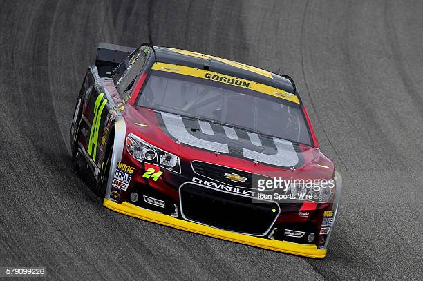 Jeff Gordon driving during a practice session for the AFibStorycom 400 at ChicagoLand Speedway Joliet Il