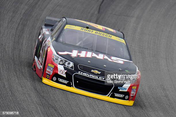 Kurt Busch driving the car during a practice session for the AFibStorycom 400 at ChicagoLand Speedway Joliet Il