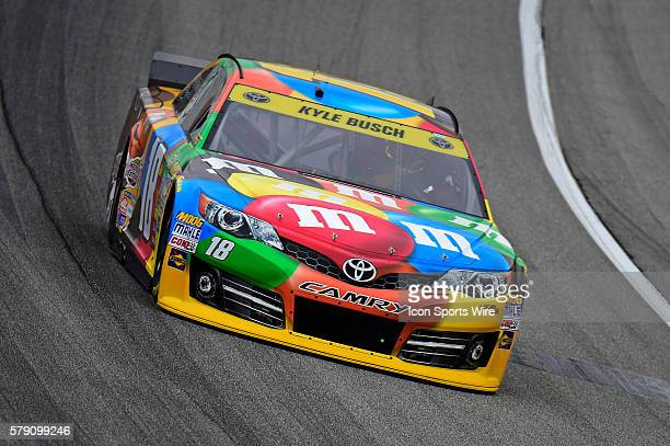 Kyle Busch driving during a practice session for the AFibStorycom 400 at ChicagoLand Speedway Joliet Il
