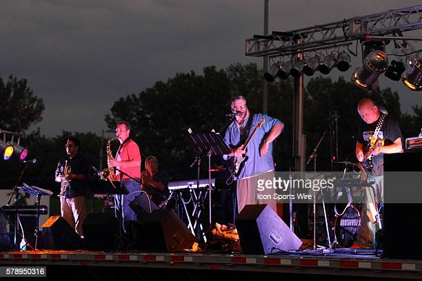 Marc Boon and the Unknown Legends perform at the Chris Brown Benefit Concert at the Corn Crib Stadium Normal Illinois The band is comprised of 8...