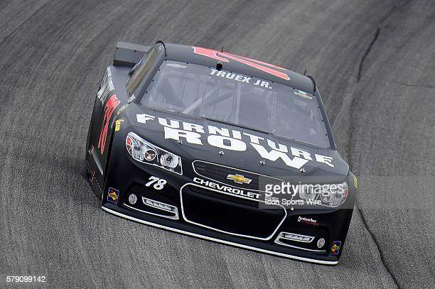 Martin Truex Jr driving the race car during a practice session for the AFibStorycom 400 at ChicagoLand Speedway Joliet Il