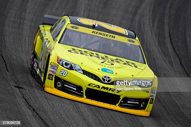 Matt Kenseth driving during a practice session for the AFibStorycom 400 at ChicagoLand Speedway Joliet Il