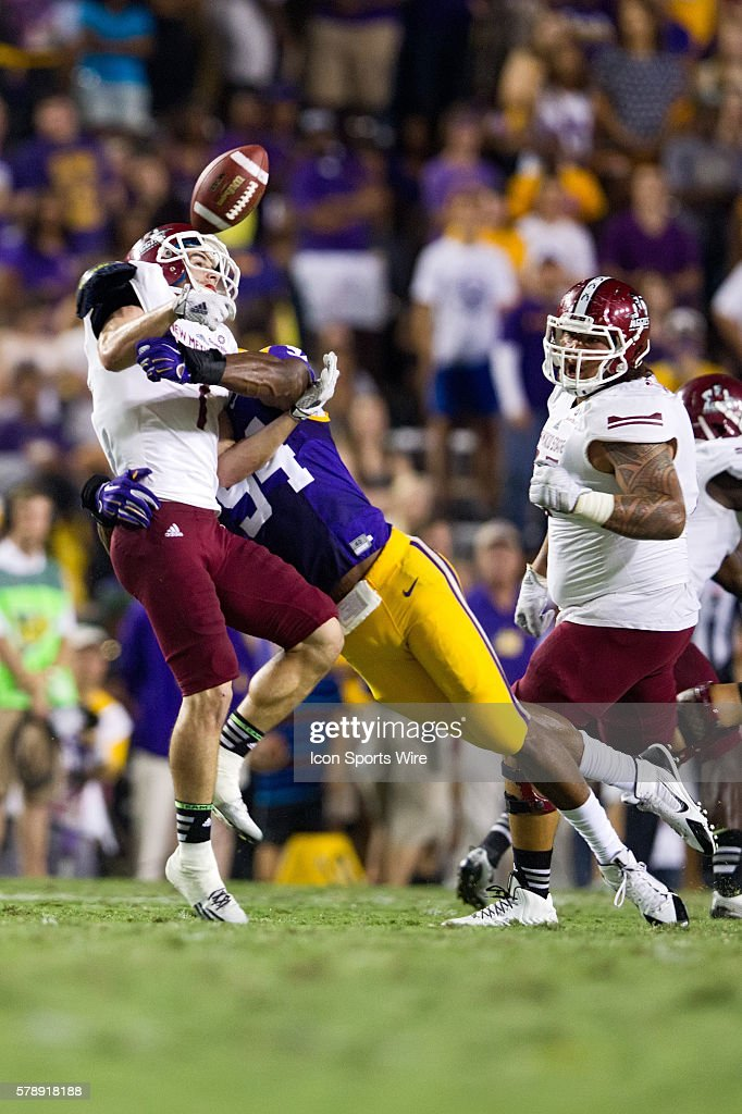 27 September 2014; New Mexico State Aggies at LSU Tigers ...