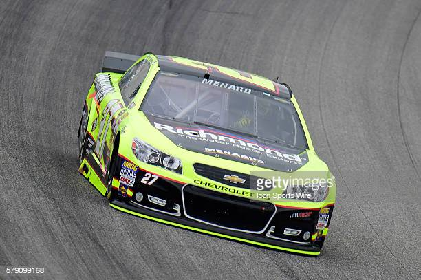 Paul Menard driving the race car during a practice session for the AFibStorycom 400 at ChicagoLand Speedway Joliet Il