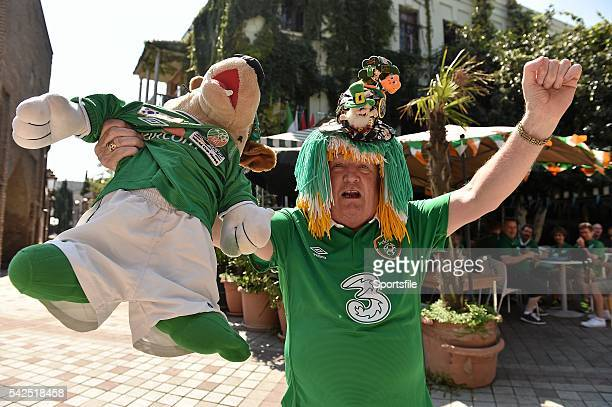 7 September 2014 Republic of Ireland supporter Malachy Gormley from Letterkenny Co Donegal outside the Hanger bar Tbilisi Georgia UEFA EURO 2016...