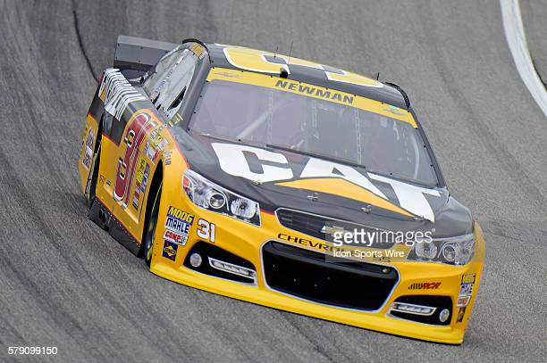 Ryan Newman driving during a practice session for the AFibStorycom 400 at ChicagoLand Speedway Joliet Il