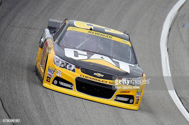 Ryan Newman driving the car during a practice session for the AFibStorycom 400 at ChicagoLand Speedway Joliet Il