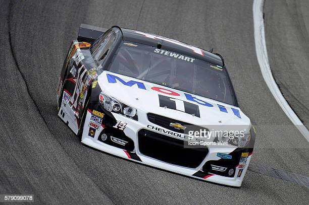 Tony Stewart driving the race car during a practice session for the AFibStorycom 400 at ChicagoLand Speedway Joliet Il