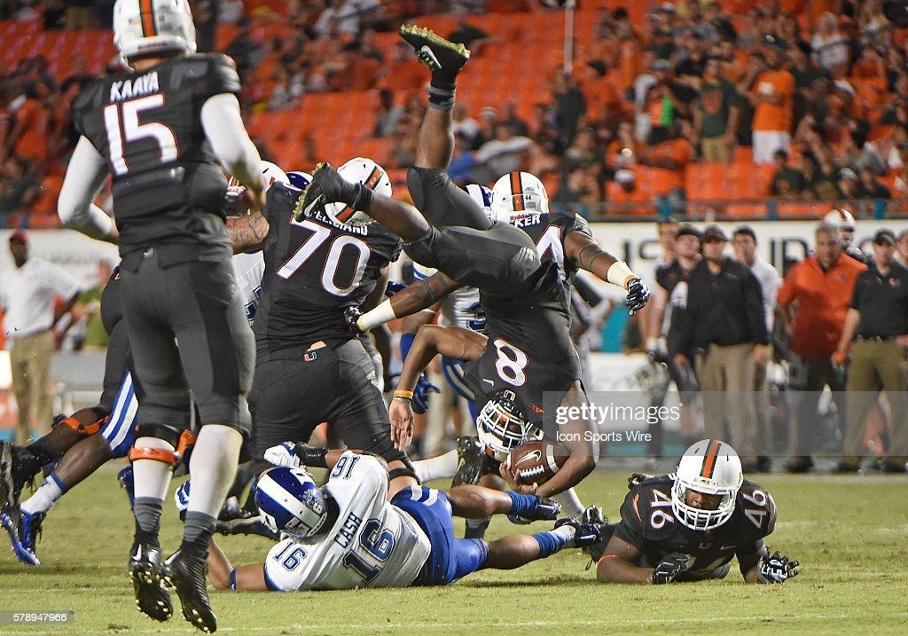 NCAA FOOTBALL: SEP 27 Duke at Miami : News Photo