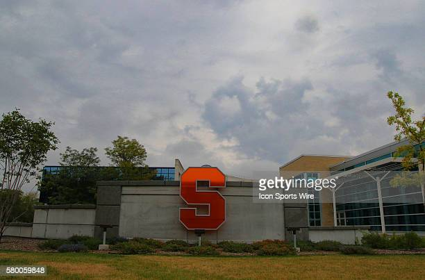 A general campus view of Syracuse University during ncaa football game between Wake Forest Demon Deacons and Syracuse Orange at the Carrier Dome in...
