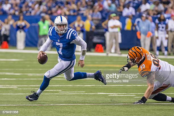 Indianapolis Colts quarterback Bryan Bennett during a week 4 preseason NFL game between the Indianapolis Colts and the Cincinnati Bengals at Lucas...