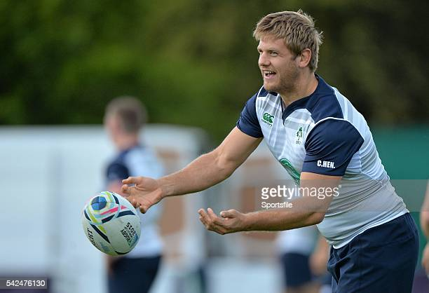 15 September 2015 Ireland's Chris Henry during squad training Carton House Maynooth Co Kildare Picture credit Matt Browne / SPORTSFILE