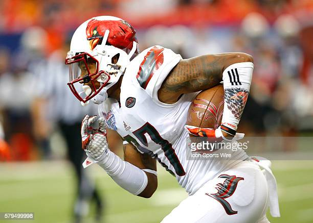 Louisville Cardinals wide receiver Jaylen Smith in first half action of the Auburn Tigers v Louisville Cardinals game in the ChickFilA kickoff game...