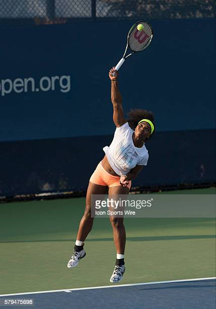 Serena Williams heads back to the practice courts after a disappointing performance in her 76 63 win over Kiki Bertens during first round match of...