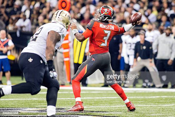 20 September 2015 Tampa Bay Buccaneers at New Orleans Saints Tampa Bay Buccaneers Quarterback Jameis Winston during a game in New Orleans Louisiana