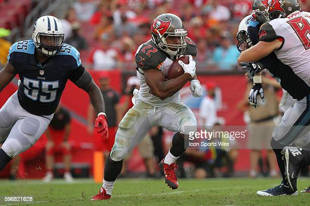 Tampa Bay Buccaneers running back Doug Martin runs the ball during the NFL Week 1 game between the Tennessee Titans and Tampa Bay Buccaneers at...