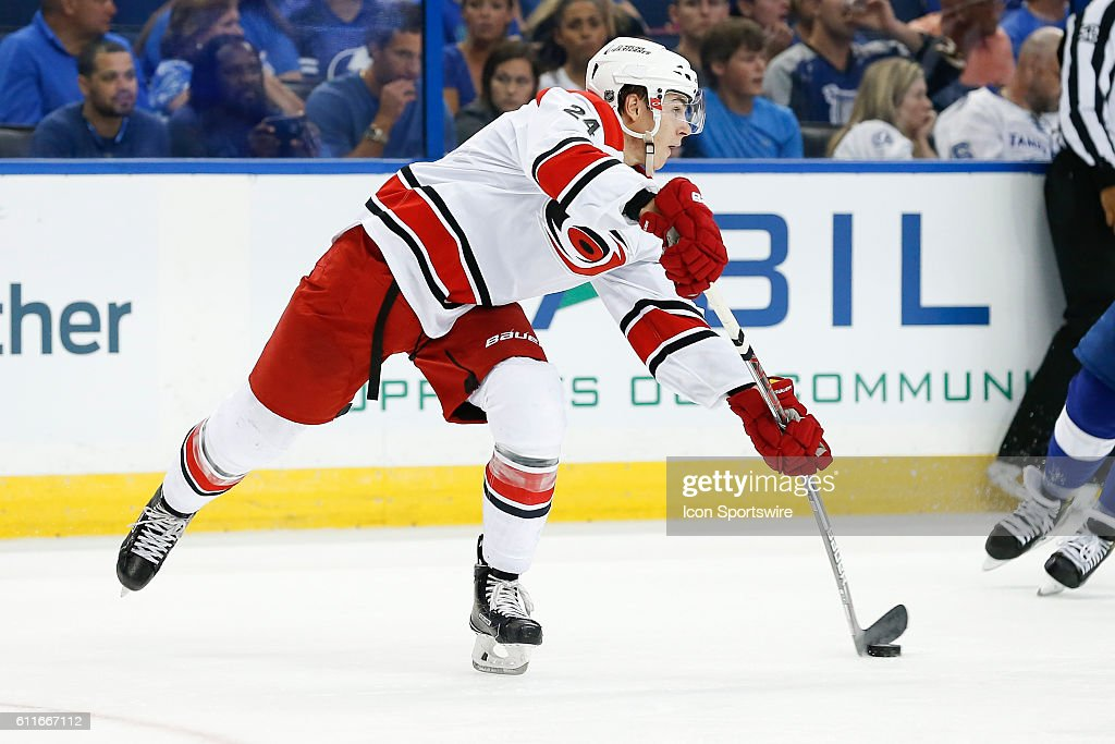 NHL: SEP 27 Preseason - Hurricanes at Lightning : News Photo