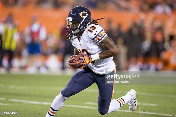Chicago Bears WR Kevin White runs after making a catch during the first quarter of the National Football League Preseason game between the Chicago...