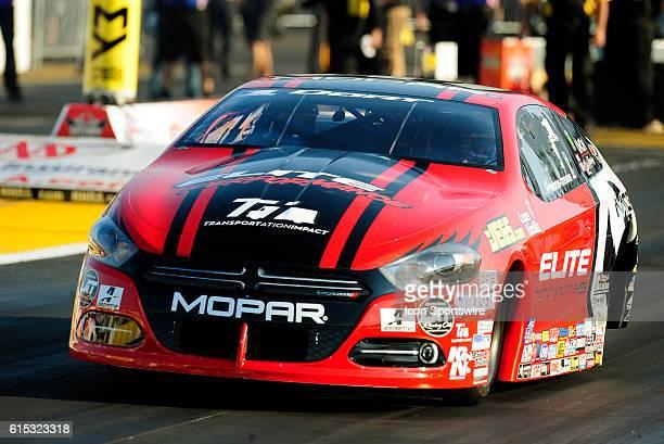 24 September 2016 | Erica EndersStevens Dodge Dart NHRA Pro Stock during qualifying for the NHRA AAA Midwest Nationals at Gateway Motorsports Park in...