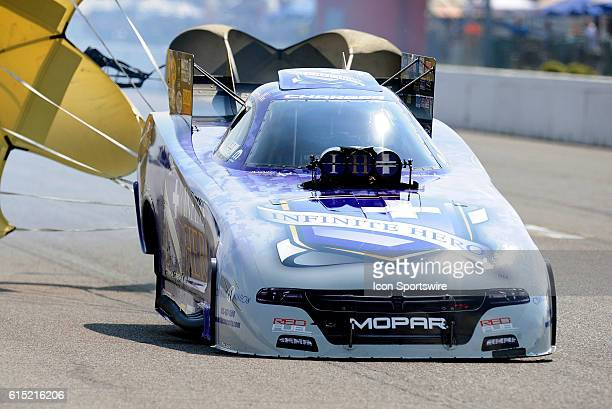 25 September 2016   Jack Beckman Don Schumacher Racing Dodge Charger NHRA Funny Car during elimination rounds for the NHRA AAA Midwest Nationals at...