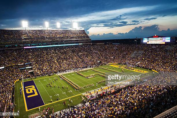 10 September 2016 Jacksonville State Gamecocks at LSU Tigers Pre Game ceremonies before a game in Tiger Stadium in Baton Rouge Louisiana