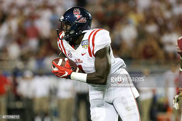 Mississippi Rebels wide receiver AJ Brown in action during the NCAA football game between the Mississippi Rebels and the Florida State Seminoles at...