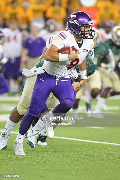 Northwestern State Demons quarterback Brooks Haack during the game between Baylor University and Northwestern State at McLane Stadium in Waco TX