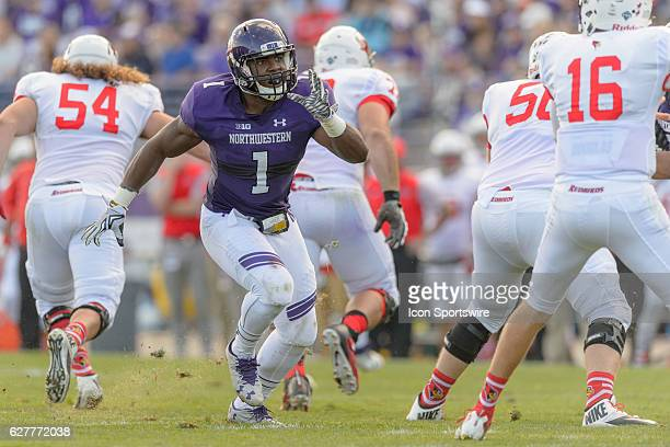 Northwestern Wildcats linebacker Anthony Walker Jr. During an NCAA football game between the Illinois State Redbirds and the Northwestern Wildcats at...