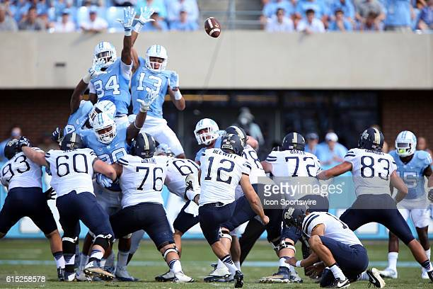 Pitt's Chris Blewitt kicks a 50 yard field goal The University of North Carolina Tar Heels hosted the University of Pittsburgh Panthers at Kenan...