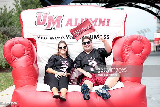 UMass fans get a comfy seat for the game The Boston College Eagles defeated the University of Massachusetts Minutemen 267 at Gillette Stadium in...