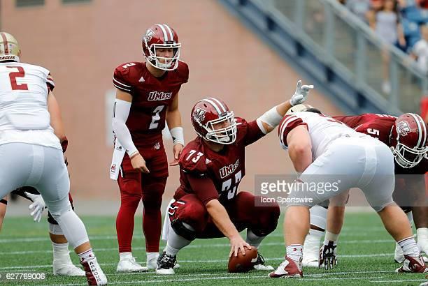 UMass offensive lineman Fabian Hoeller spots an open defender The Boston College Eagles defeated the University of Massachusetts Minutemen 267 at...