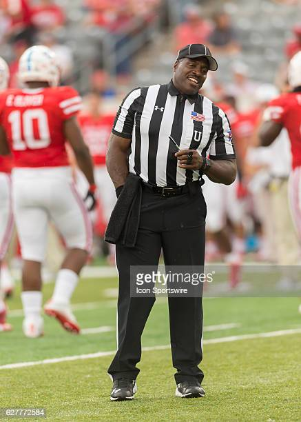 Umpire Hilbert Byers during the NCAA football game between the Lamar Cardinals and Houston Cougars at TDECU Stadium in Houston Texas