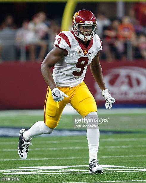 USC Trojans wide receiver JuJu SmithSchuster during the Advocare Classic college football game between the USC Trojans and Alabama Crimson Tide at...