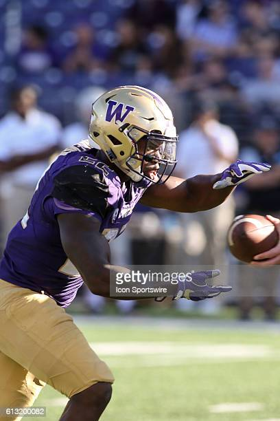 Washington's Lavon Coleman during the game against Idaho Washington defeated Idaho at Husky Stadium in Seattle WA