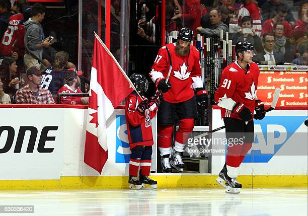 Joe Thornton takes to the ice before a game between Team Canada and Team USA during World Cup of Hockey Pre-Tournament action at Canadian Tire Centre...
