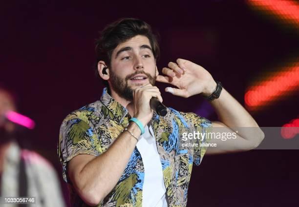13 September 2018 BadenWuerttemberg BadenBaden Singer Alvaro Soler performing during the recording of the TV show 'SWR3 New Pop Festival Das Special'...