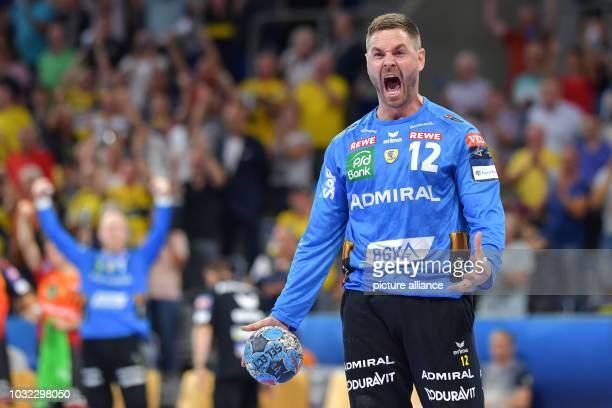 12 September 2018 BadenWuerttemberg Mannheim 12 September 2018 Germany Mannheim Handball Champions League RheinNeckar Loewen vs FC Barcelona Group...