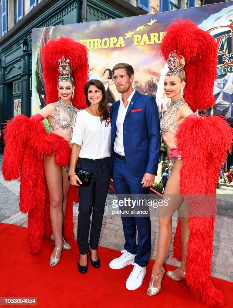 12 September 2018 BadenWuerttemberg Rust AnnKathrin Mack and boyfriend Nicolas Kopf standing on the red carpet with two actresses during the opening...