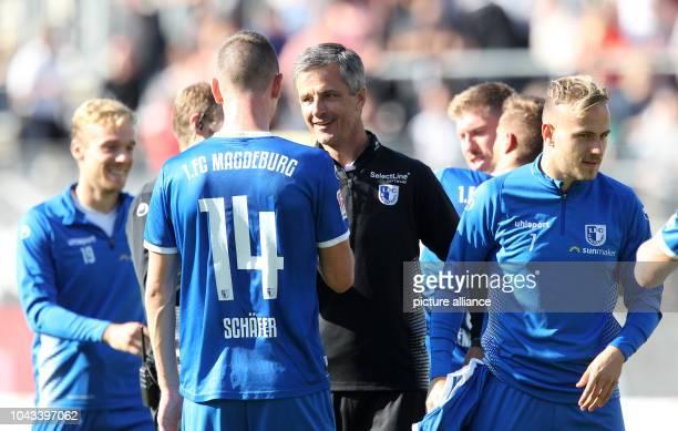 September 2018, Baden-Wuerttemberg, Sandhausen: Soccer: 2nd Bundesliga, SV Sandhausen - 1st FC Magdeburg, 8th matchday at the BWT-Stadion am...