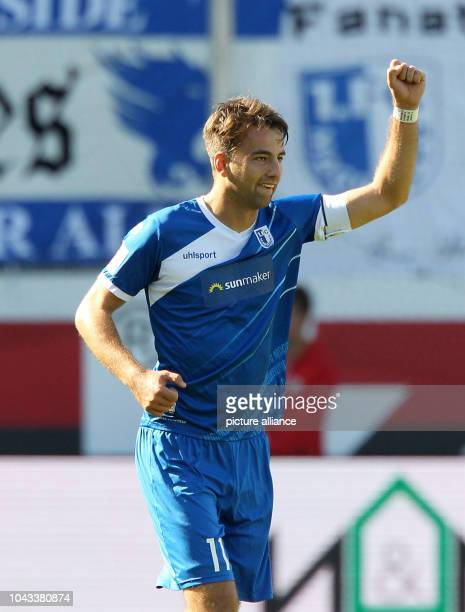 September 2018, Baden-Wuerttemberg, Sanhausen: Soccer: 2nd Bundesliga, SV Sandhausen - 1st FC Magdeburg, 8th matchday at the BWT-Stadion am...