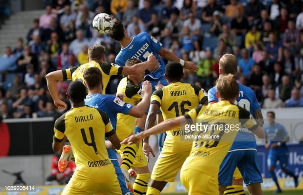 21 September 2018 BadenWuerttemberg Sinsheim Soccer Bundesliga 1899 Hoffenheim Borussia Dortmund Matchday 4 in the RheinNeckarArena Florian...